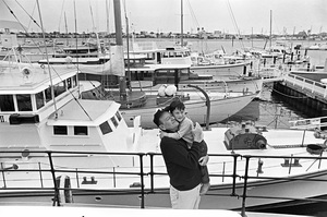 John Wayne aboard his yacht Wild Goose with his son Ethan circa 1966 © 1978 Gunther - Image 0898_3389