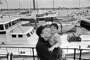 John Wayne aboard his yacht Wild Goose with his son Ethancirca 1966 © 1978 Gunther - Image 0898_3390