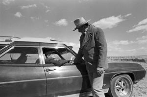 "John Ford visiting John Wayne on the set of ""The Cowboys""1971 © 1978 David Sutton - Image 0898_3399"