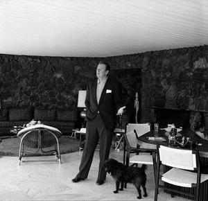John Wayne at home on Louise Street in Encino, California1958 © 1978 Bernie Abramson - Image 0898_3405
