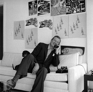 John Wayne at home on Louise Street in Encino, California 1958 © 1978 Bernie Abramson - Image 0898_3406