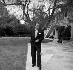 John Wayne at home on Louise Street in Encino, California 1958 © 1978 Bernie Abramson - Image 0898_3409