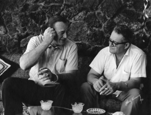 John Wayne at home with his brother Robert Morrison1970 © 1978 Bernie Abramson - Image 0898_3411