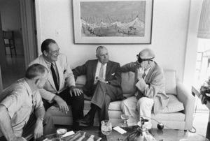 John Wayne at home with John Ford1962 © 1978 Bernie Abramson - Image 0898_3417