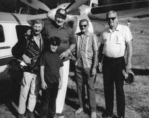 John Wayne with son Ethan and photographer David Suttoncirca 1970s © 1978 David Sutton - Image 0898_3425