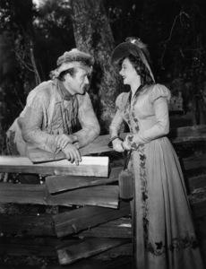 "John Wayne and Vera Ralston in the ""The Fighting Kentuckian""1949© 1978 Mel Traxel - Image 0898_3437"