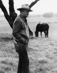 John Wayne in a Great Western Savings ad session1978© 1978 David Sutton - Image 0898_3444