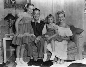 Betty Grable, Harry James, and their daughters (Victoria Elizabeth and Jessica)circa 1950s - Image 0904_0014