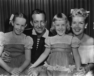 Betty Grable, Harry James, and their daughters (Victoria Elizabeth and Jessica)circa 1950s - Image 0904_0028