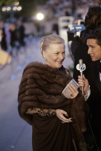 """Joan Fontaine being interviewed by Regis Philbin at """"The 50th Annual Academy Awards""""1978 © 1978 Gunther - Image 0922_0717"""