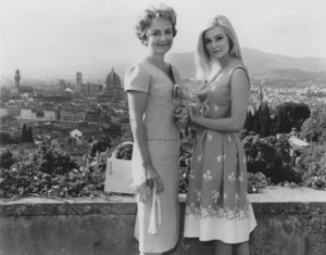 """Olivia de Havilland & Yvette Mimieux on location in Florence, Italy for """"Light Of The Piazza""""Circa 1962 - Image 0925_0018"""
