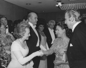 Olivia de Havilland with ray Millard and Jack Waltz (center) meeting Princess MargaretCirca 1967 - Image 0925_1024
