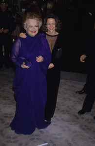 "Olivia de Havilland with her daughter Gisele at ""The 44th Annual Golden Globe Awards""1987© 1987 Gary Lewis - Image 0925_1034"