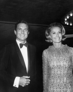 Cliff Robertson with wife Dina Merrill1967Photo by Joe Shere - Image 0950_0207