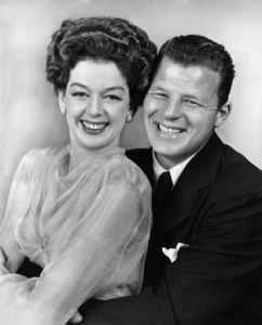 """Rosalind Russell and Jack Carson in """"Roughly Speaking""""1945 Warner BrothersPhoto by Longworth - Image 0952_0818"""