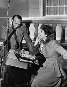 """Rosalind Russell and Director Michael Curtiz on the set of """"Roughly Speaking""""1945 - Image 0952_0819"""