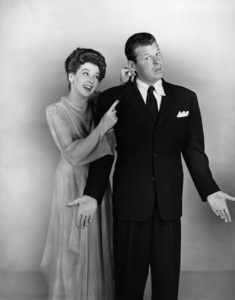"""Rosalind Russell and Jack Carson in """"Roughly Speaking""""1945 Warner BrothersPhoto by Longworth - Image 0952_0820"""