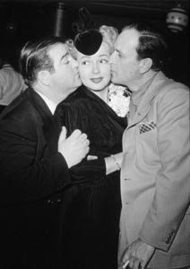 Lana Turner and Abbott and Costello, c. 1948.**I.V. - Image 0954_0650