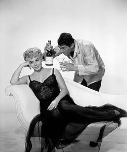 """Lana Turner with Dean Martin in """"Who"""