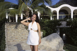"""Merle Oberon at her home """"El Galal"""" in Acapulco, MexicoMarch 1969** H.L. - Image 0957_1025"""