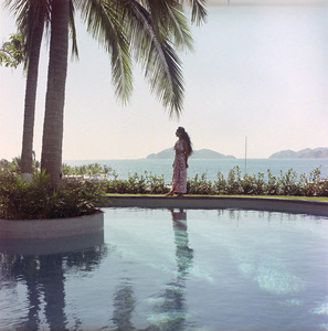 """Merle Oberon at her home """"El Galal"""" in Acapulco, Mexico1968© 1978 Wallace Seawell - Image 0957_1030"""