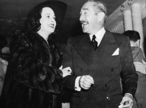 Hedy Lamarr and Adolphe Menjou at Earl Carroll