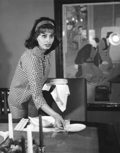 Sophia Loren at home, c. 1960. - Image 0959_0009