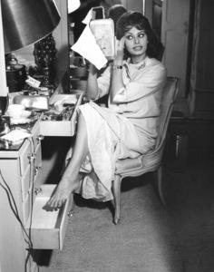 Sophia Loren at home, c. 1960 - Image 0959_0032