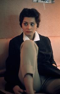 "Sophia Loren on set of ""Black Orchid,"" 1958. © 1978 Bob Willoughby - Image 0959_2030"