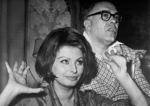 Sophia Loren and husband Carlo Ponti, c. 1969. - Image 0959_2101