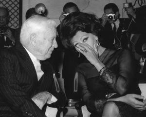 Sophia Loren with Charlie Chaplin, 1965. - Image 0959_2103