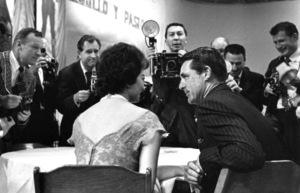 Sophia Loren and Cary Grant ata press party, April 1957. © 1978 Lou Jacobs Jr. - Image 0959_2112