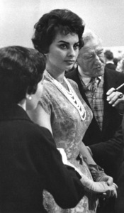Sophia Loren at a press party, April 1957. © 1978 Lou Jacobs Jr. - Image 0959_2113