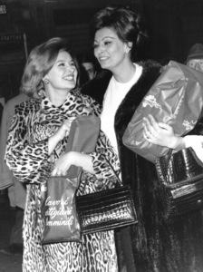 Sophia Loren with sister Maria Mussolini, 1963. - Image 0959_2131