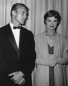Tab Hunter took Diane Varsi to theatre for Academy Awards, but went to party later with Venetia Stevensoncirca 1950sPhoto by Joe Shere - Image 0961_0830