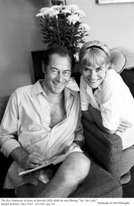 Rex Harrison and wife Rachel Roberts at homein Beverly Hills, 1963. © 1978 Bob Willoughby - Image 0962_1001