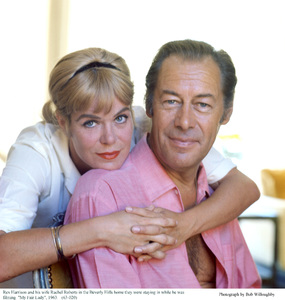 Rex Harrison and wife Rachel Roberts at home 1963 © 1978 Bob Willoughby - Image 0962_1005