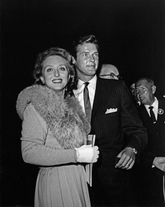 """Roger Moore escorting Celeste Holm to the premiere of """"Sunrise at Campobello""""1960Photo by Joe Shere - Image 0963_0052"""