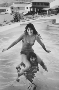 Cher and Sonny Bono at home in Los Angeles, CA 1965© 1978 Gunther  - Image 0967_0128