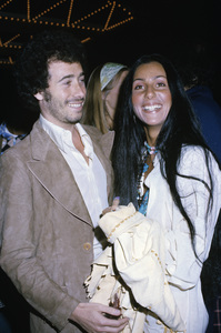 Cher and David Geffen during a Jim Stacey Benefit at the Century Plaza Hotel in Los Angeles1974 © 1978 Gary Lewis - Image 0967_0213