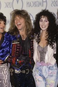 "Cher with Jon Bon Jovi at the ""American Music Awards"" 1988 © 1988 Gary Lewis - Image 0967_0260"