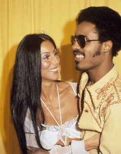 """Cher Bono and Stevie Wonder at """"The 16th Annual Grammy Awards""""1974© 1978 Gary Lewis - Image 0967_0273"""