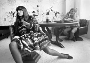 Cher Bono and Sonny Bono in their Sunset Strip office 1967© 1978  Bob Willoughby - Image 0967_0299