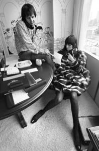 Cher Bono and Sonny Bono in their Sunset Strip office 1967© 1978  Bob Willoughby - Image 0967_0301