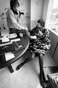 Cher Bono and Sonny Bono in their Sunset Strip office 1967© 1978  Bob Willoughby - Image 0967_0302