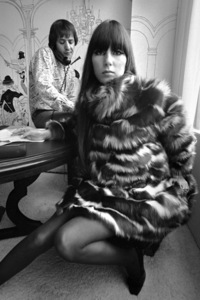 Cher Bono and Sonny Bono in their Sunset Strip office 1967© 1978  Bob Willoughby - Image 0967_0304