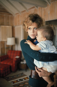 Jane Fonda and daughter Vanessa, age 8 months Malibu, Californiacirca 1969 © 1978 Bob Willoughby - Image 0968_1010