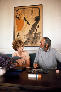Jane Fondaat home in Malibu California with her father Henry FondaC. 1969 © 1978 Bob Willoughby - Image 0968_1012