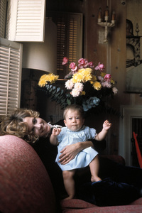Jane Fondaat home in Malibu California with her daughter Vanessa VadimC. 1969 © 1978 Bob Willoughby - Image 0968_1013