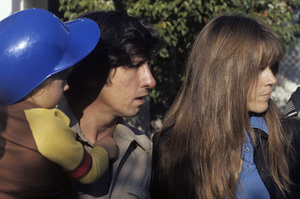 Jane Fonda with husband Tom Hayden and son Troy Garity1975 © 1978 Ulvis Alberts - Image 0968_1050